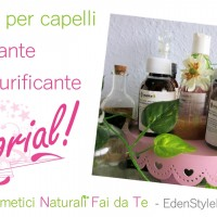 Video tutorial - Impacco per capelli rinforzante e purificante fai da te