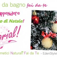 Video Tutorial - Bombe da bagno da appendere all'albero di Natale