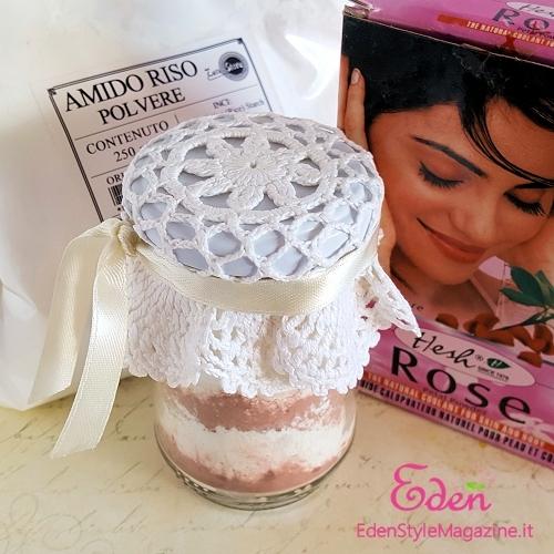 amido di riso povere rosa bagno