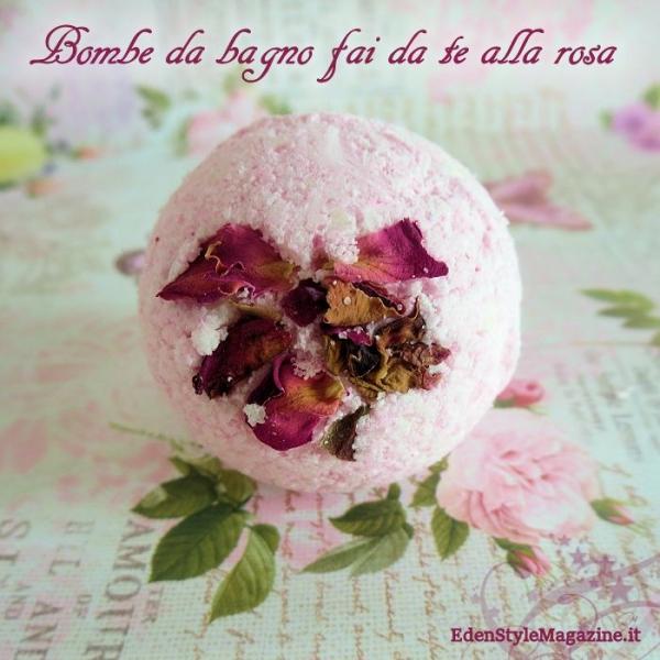 Bombe da bagno fai da te alla rosa esm - Bombe da bagno effervescenti ...