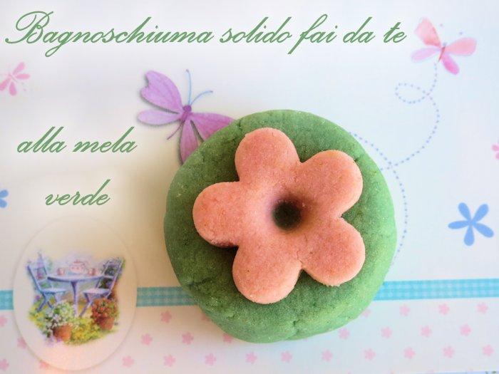 Bagnoschiuma solido fai da te alla mela verde - Bagno verde mela ...