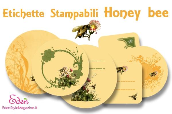 Molto Etichette Stampabili Honey bee - EdenStyleMagazine.it - Cosmetici  QZ67