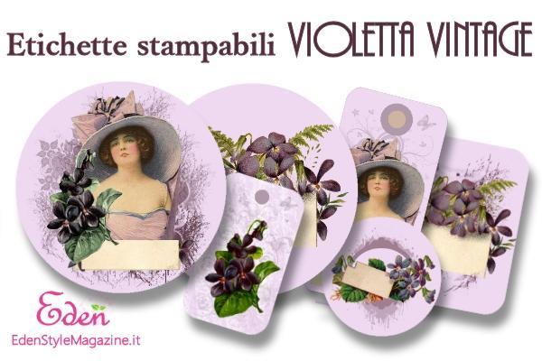 Molto Etichette stampabili Violetta Vintage - EdenStyleMagazine.it  YP32